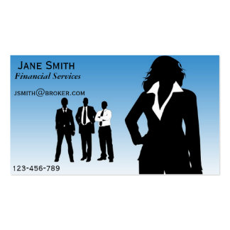 Financial Services, Broker, Financial Planner Pack Of Standard Business Cards