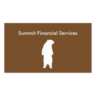 Financial Services Pack Of Standard Business Cards