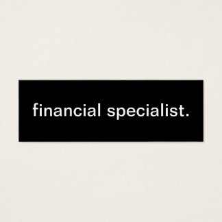 Financial Specialist Business Card