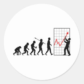 Financial Trader Classic Round Sticker