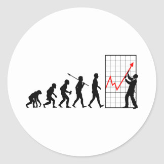 Financial Trader Round Sticker