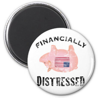 Financially Distressed 6 Cm Round Magnet