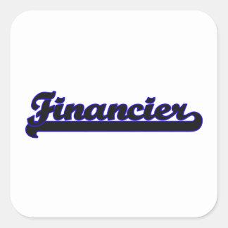 Financier Classic Job Design Square Sticker