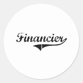 Financier Professional Job Classic Round Sticker
