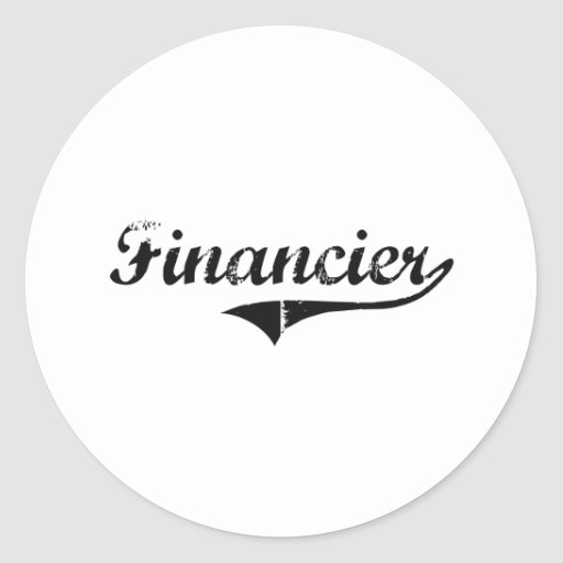 Financier Professional Job Stickers