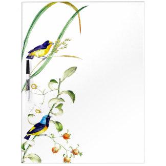 Finch Birds Wildlife Animals Dry Erase Board