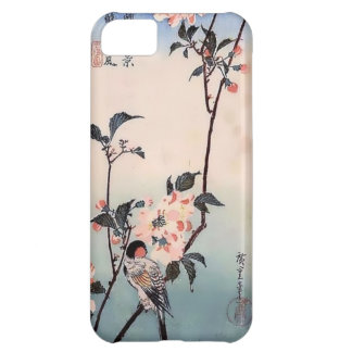 Finch Cherry Blossom Japanese Print iPhone 5C Case