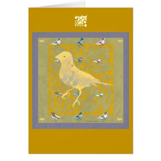 Finch Holiday Greeting card, Christmas Card