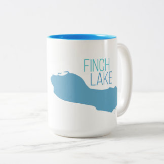 Finch Lake, Decatur, Michigan Two-Tone Coffee Mug