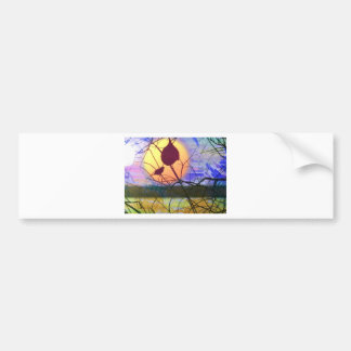 Finch Sunset Bumper Sticker