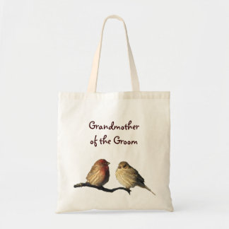Finches Grandmother of the Groom Budget Tote Bag