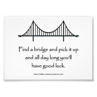 Find a Bridge PRINTq Art Photo