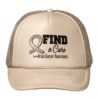 Find a Cure Brain Cancer Awareness Hat