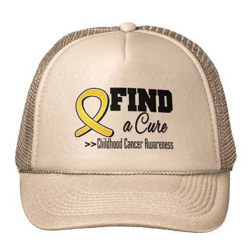 Find a Cure Childhood Cancer Awareness Trucker Hat