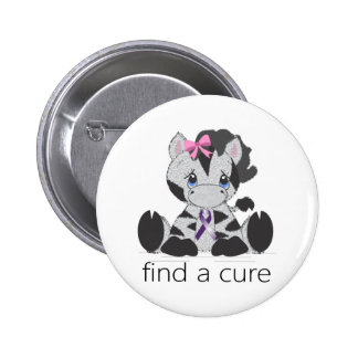 find a cure.png 6 cm round badge