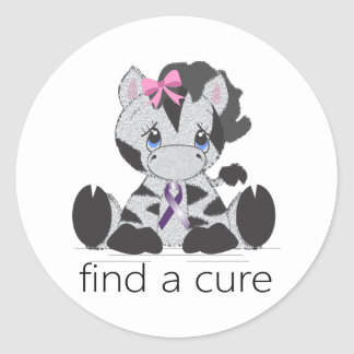 find a cure png round stickers