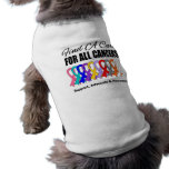 Find a Cure Ribbons For All Cancers Dog T-shirt