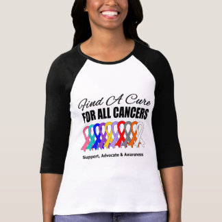 Find a Cure Ribbons For All Cancers T Shirt