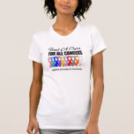 Find a Cure Ribbons For All Cancers Tees