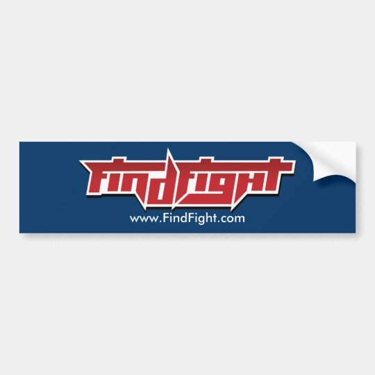 Find Fight Bumper Sticker
