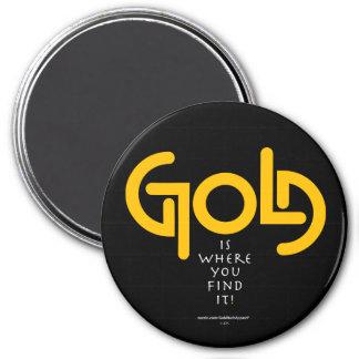 Find Gold Ambigram Magnet