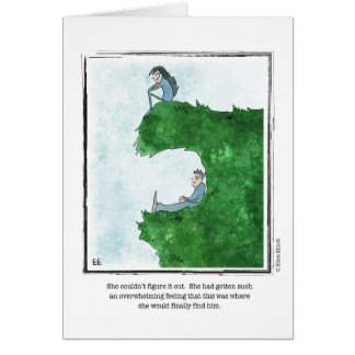 FIND HIM cartoon by Ellen Elliott Greeting Card