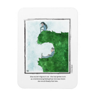FIND HIM cartoon by Ellen Elliott Rectangular Photo Magnet