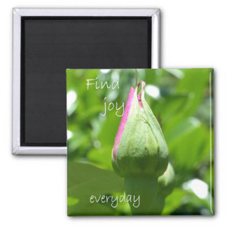 Find Joy Everyday Square Magnet