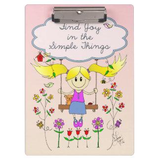 Find Joy in Simple Things Clipboard
