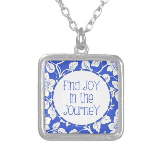Find JOY in the Journey! Silver Plated Necklace
