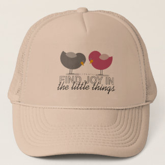 Find Joy In The Little Things Pink Birds Cute Chic Cap