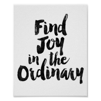 Find Joy in the Ordinary Poster