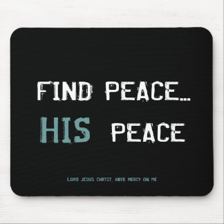 Find Peace Mouse Pads