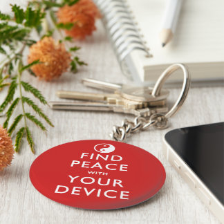 Find Peace with your Device Keychains
