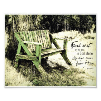 Find Rest My Soul (Weathered Bench) 8x10 Art Photo