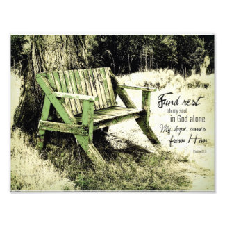 Find Rest My Soul (Weathered Bench) 8x11.5 Photographic Print