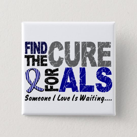 Find The Cure 1 ALS T-Shirts & Gifts 15 Cm Square Badge