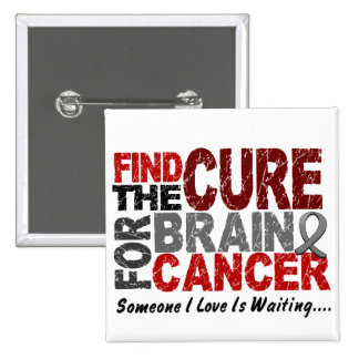 Find The Cure 1 BRAIN CANCER T-Shirts & Gifts Pin