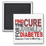 Find The Cure 1 JUVENILE DIABETES T-Shirts & Gifts Refrigerator Magnet