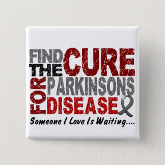 Find The Cure 1 PARKINSON'S DISEASE T-Shirts 15 Cm Square Badge