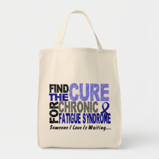 Find The Cure CFS Chronic Fatigue Syndrome Grocery Tote Bag