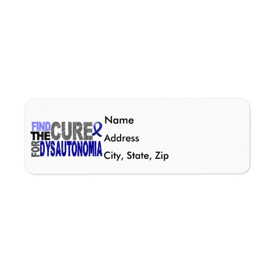 Find The Cure Dysautonomia Return Address Label