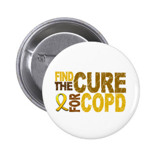 Find The Cure For COPD 6 Cm Round Badge