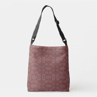 Find the Rabbit, rustic pattern, gray & terracotta Crossbody Bag
