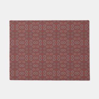 Find the Rabbit, rustic pattern, gray & terracotta Doormat