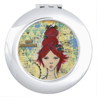 Find Understanding: Original Art by Croppin' Spree Makeup Mirrors