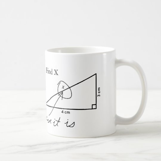Find X funny Math Test Coffee Mug