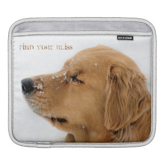 Find Your Bliss Golden Retriever ipad Sleeve