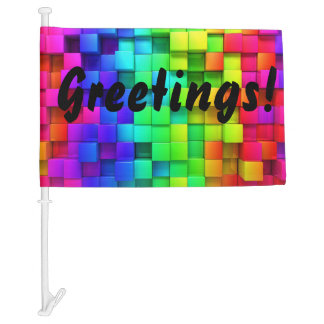 FIND YOUR CAR in the Parking Lot Greetings FLAG Car Flag