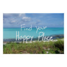Find Your Happy Place Inspirational Poster